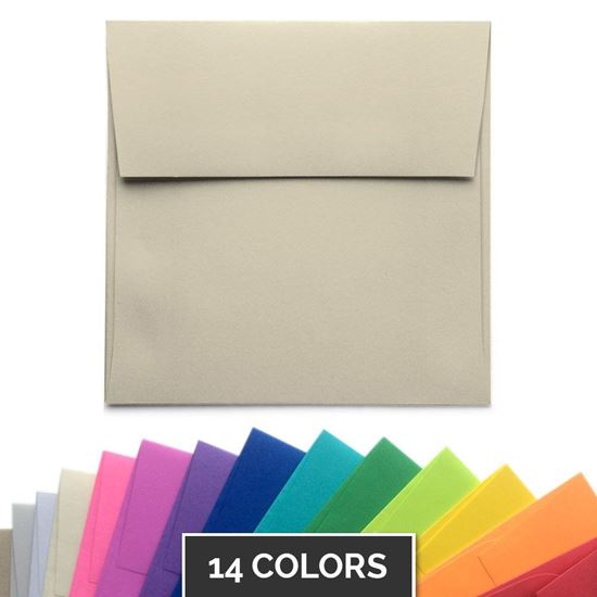 "5.5"" Square Envelopes - Available in 14 Colors"